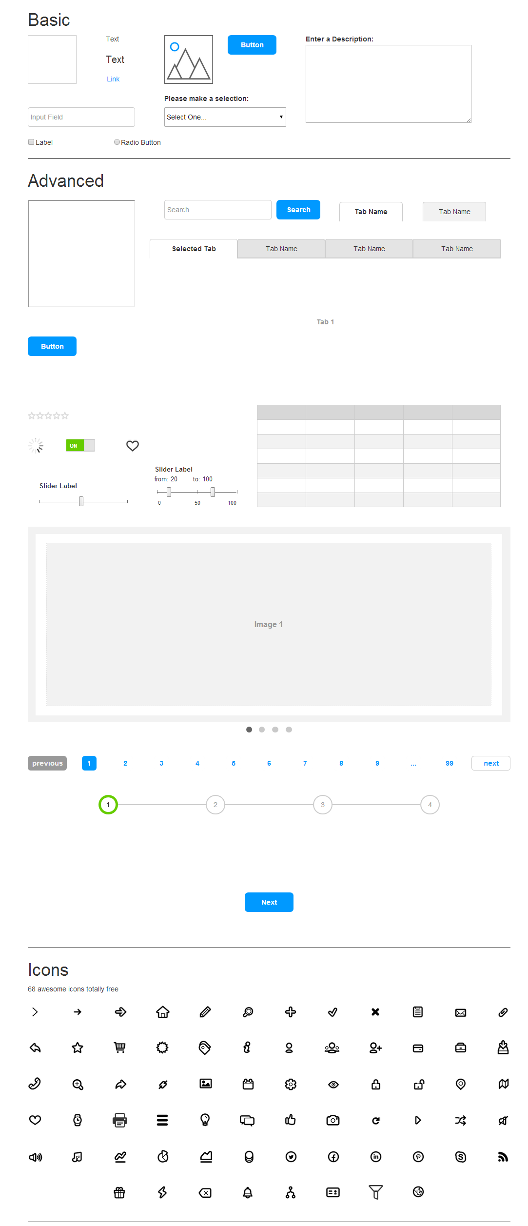 Axure. Templates and widget libraries for Axure RP | Axemplate ...