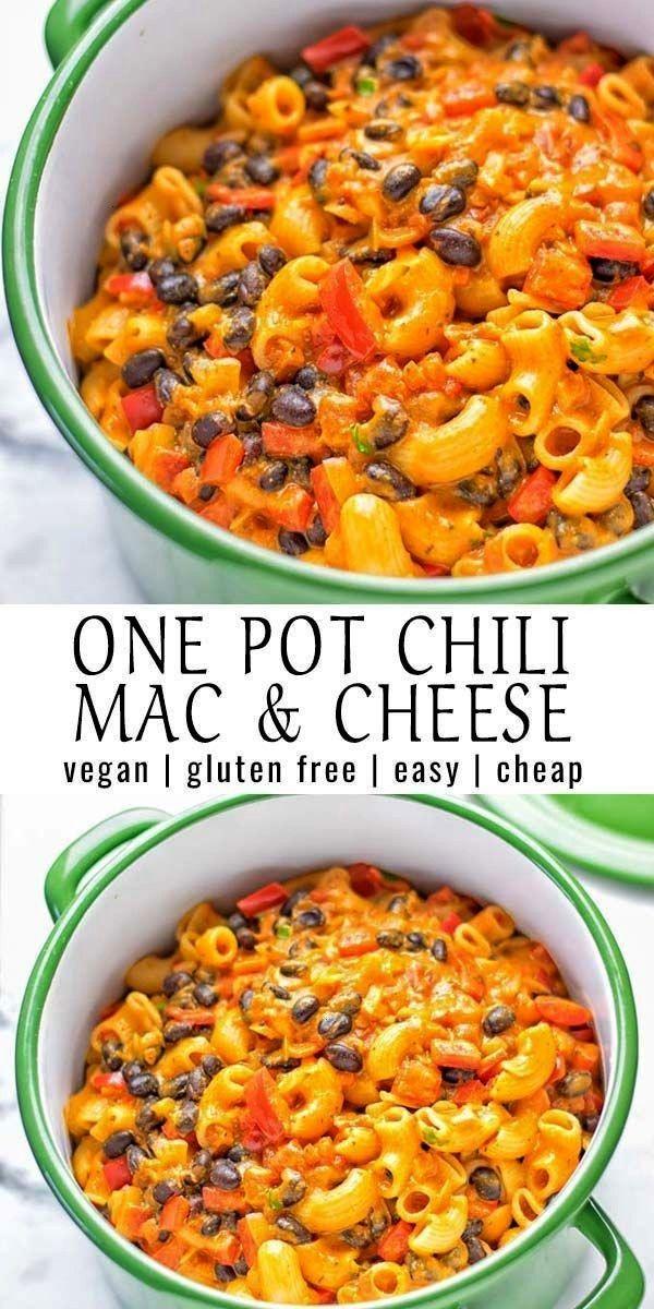 Topf Chili Mac und Käse        One Pot Chili Mac and Cheese        Dieser vegetarische Chili MaEin