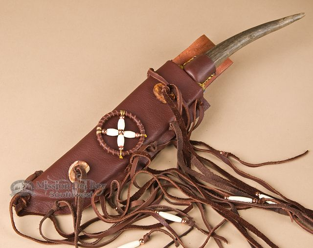 Native American Antler Knife Amp Sheath 14 5 Quot K40 Antler