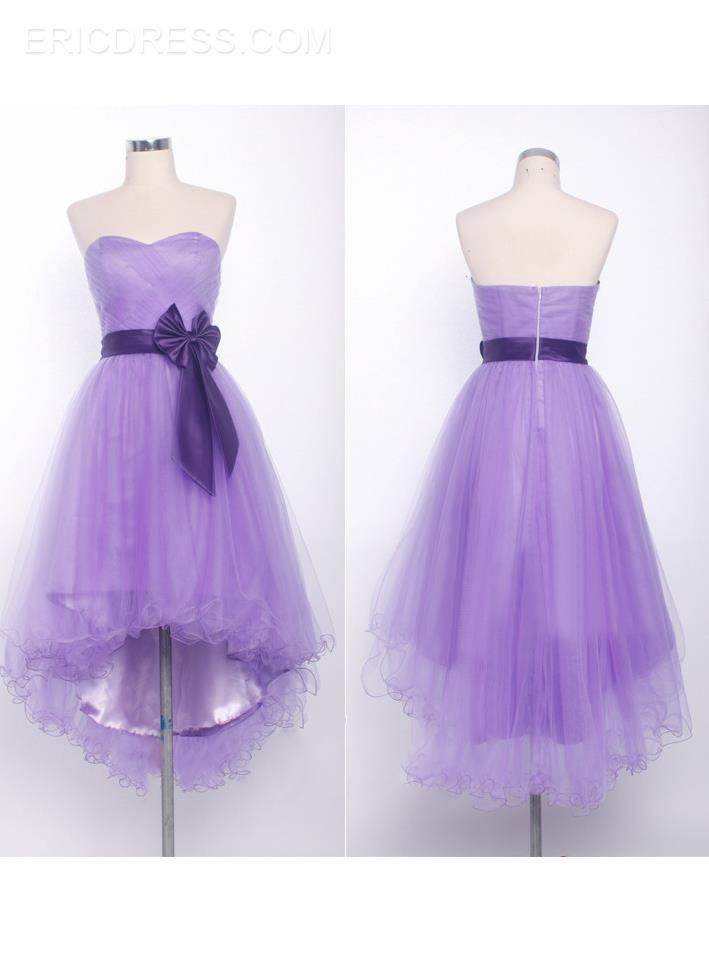 dfd7d8f9592 Faddish A-Line High-Low Length Bowknot Homecoming Dress Inexpensive  Homecoming Dresses- ericdress.com 10994658