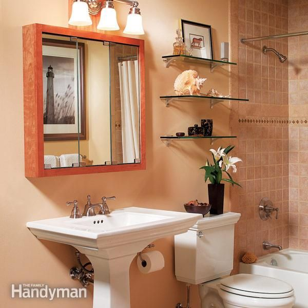 Small Bathroom No Storage three bathroom storage ideas | the family handyman, glasses and