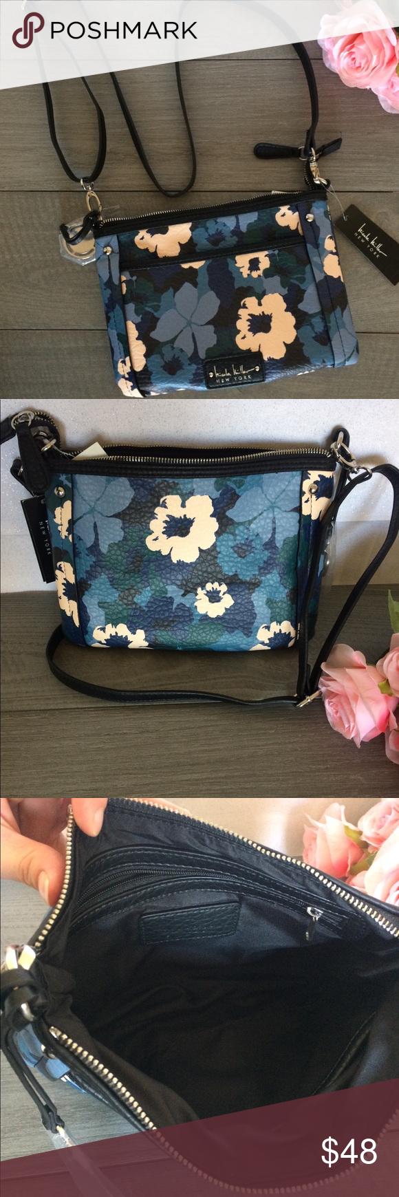Brand New Nicole Miller Floral Crossbody Bags, Crossbody