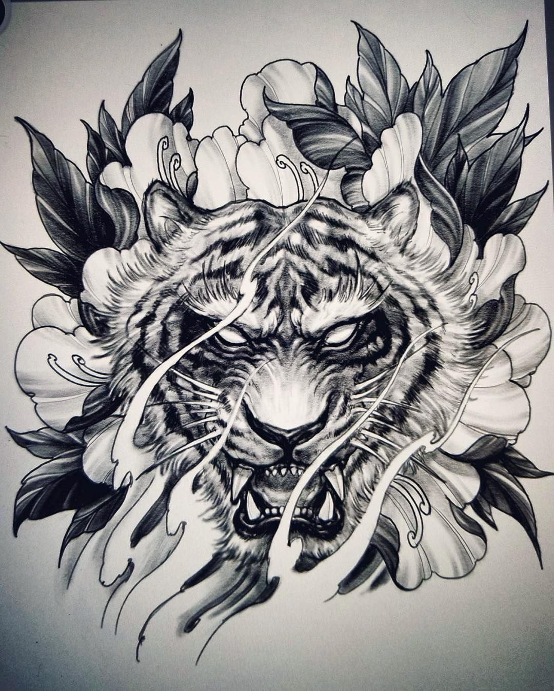 Tiger And Peony Sketch By Davidhoangtattoo Tiger Tattoo Design Tiger Tattoo Tiger Tattoo Sleeve