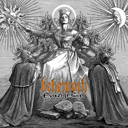 """Front man Nergal has stated that """"Evangelion"""" is the only Behemoth album he's ever actually been happy with, and it's easy to hear why. Description from metalunderground.com. I searched for this on bing.com/images"""
