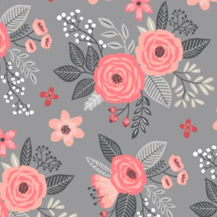 Vintage Flowers Fabric By The Yard Floral Fabric Peach