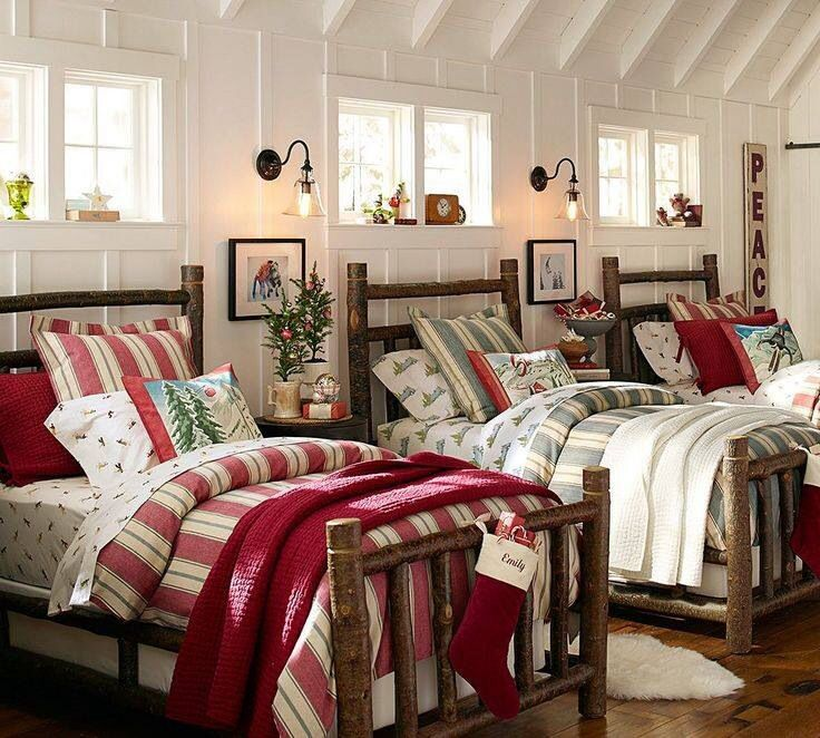 Love Winter Bedrooms Christmas Decorations Bedroom Home Christmas Bedroom