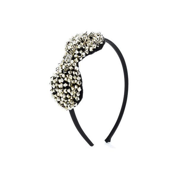 Twilight Studded Bow Alice Band ($12) ❤ liked on Polyvore