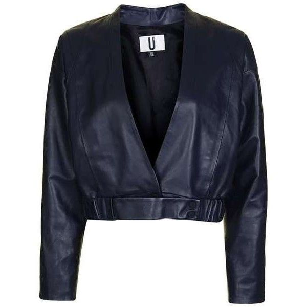 Verloc Jacket by Unique ($650) ❤ liked on Polyvore featuring outerwear, jackets, topshop, 100 leather jacket, bomber style jacket, drapey jacket, leather biker jacket and leather bomber jacket