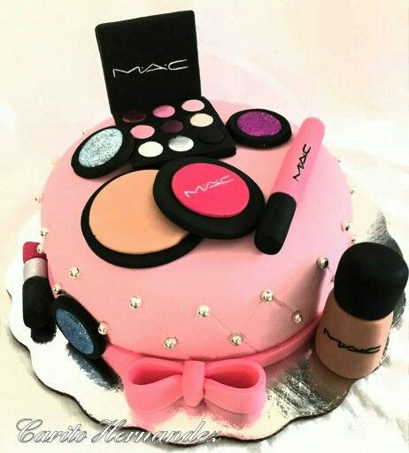 Pastel de maquillaje Cute pasteles o tortas Pinterest