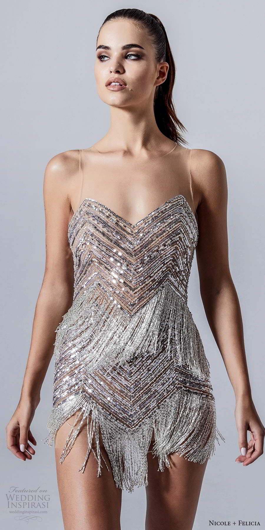 Nicole Felicia Fall 2020 Wedding Dresses Wedding Inspirasi Short Wedding Dress Lovely Dresses 2020 Wedding Dresses [ 1800 x 900 Pixel ]