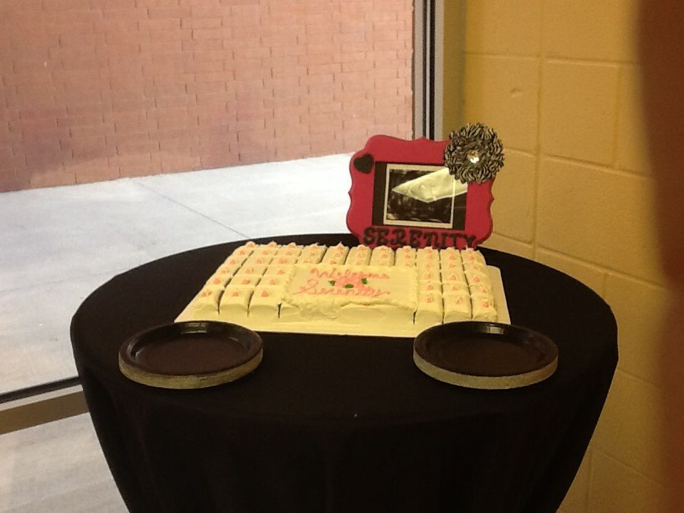 Picture Of Ultrasound On Cake Table Sprayed Paint Wooden Letters