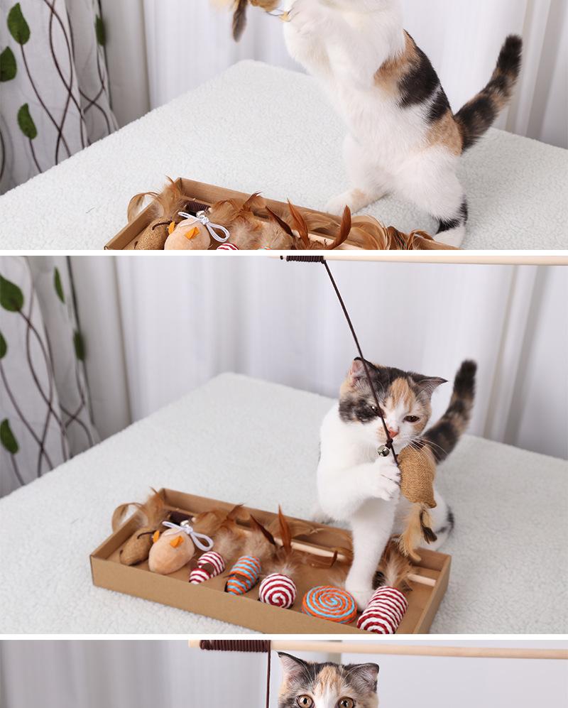 猫おもちゃ 猫じゃらし Fohil 猫ボール 毛糸 天然素材 キャットニップボール じゃれ猫 歯磨き 運動不足解消 ストレス解消 またたび 羽のおもちゃ 釣り竿 噛むおもちゃ 猫遊び おもちゃセット 7点セット Cmall 2021 猫 遊び 猫 歯磨き 猫 おもちゃ