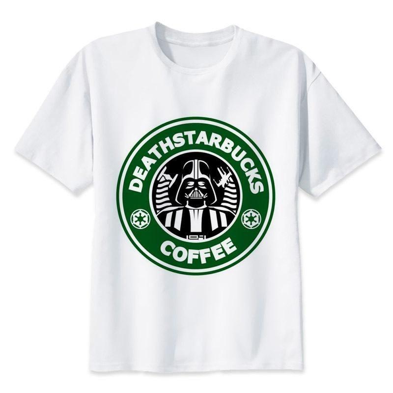 4bf29b50 star wars t shirt Men funny darth vader T-Shirt starwars porg stormtrooper  bb8 top