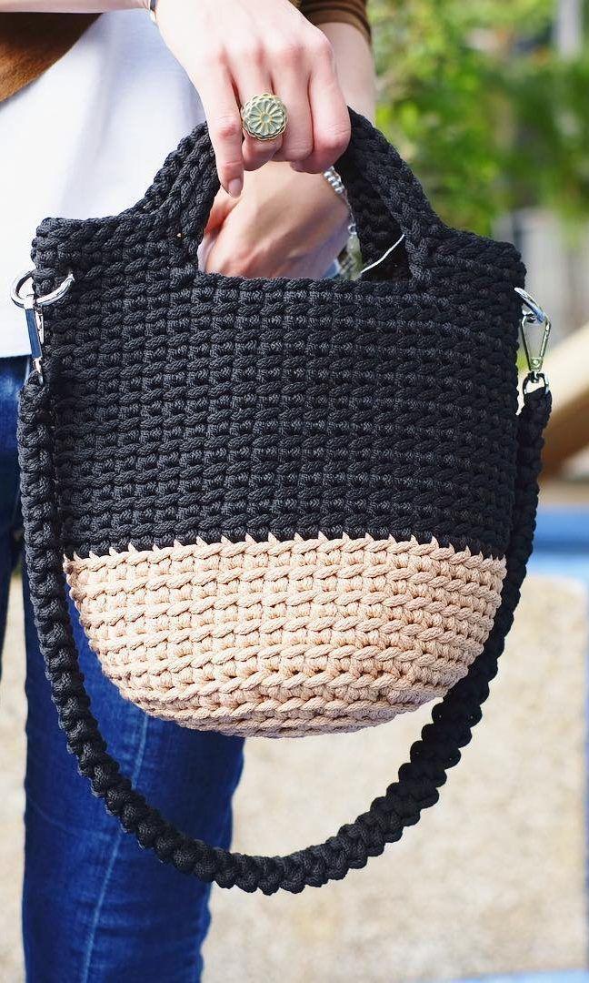 35+ modèles de sacs au crochet gratuits, vous pouvez créer de fabuleux sacs en 3 jours Nouveau 20