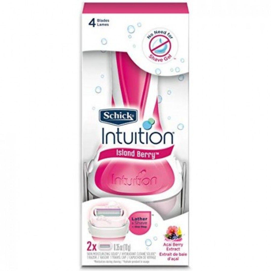 شفرة حلاقة انتويشن من شيك برغوة التوت Intuition Razor Schick Moisturizer For Dry Skin