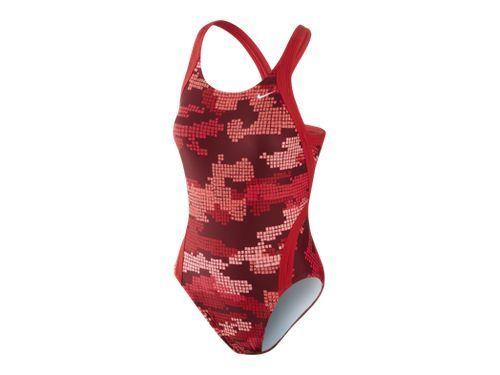 c7181e98a Nike Fast Back Camo Women s Swimsuit Agua