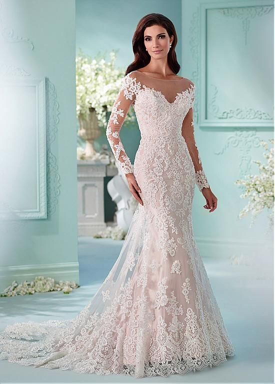 Fantastic Tulle Bateau Neckline Mermaid Wedding Dresses With Lace ...