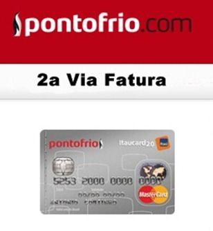 Cartao Ponto Frio Itaucard 2 0 2 Via Fatura In 2020 Visa Gift