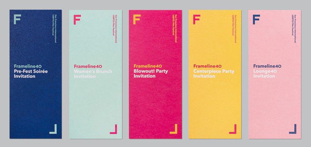 Frameline s'offre une nouvelle identité visuelle pour la 40e édition de son LBGTQ Film Festival - étapes: