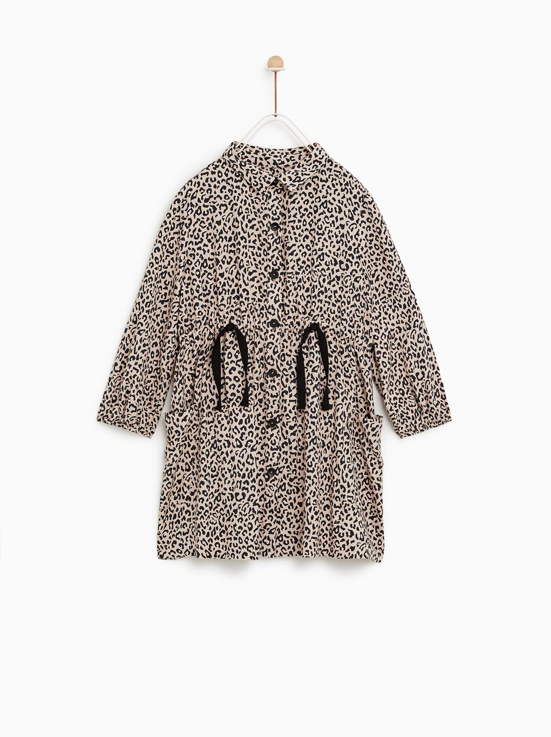 Billede 2 Af Kjole Med Dyreprint Fra Zara Woman Fashion Animal Print Dresses Jumpsuits For Girls
