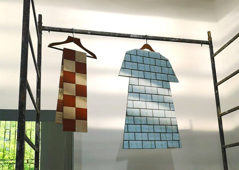 Zhanna Kadyrova Repurposes Ceramic Tiles Into Garments In Second Hand Project History Of Ceramics Ceramic Tiles Ceramics