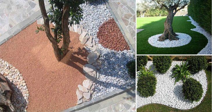 Chi ha la fortuna di possedere un bel giardino sa anche - Decorare il giardino coi sassi ...