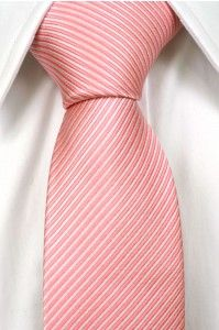 Necktie from Tieroom, Notch LOGAN slim has got a discretely striped structure in two different shades of pink Notch
