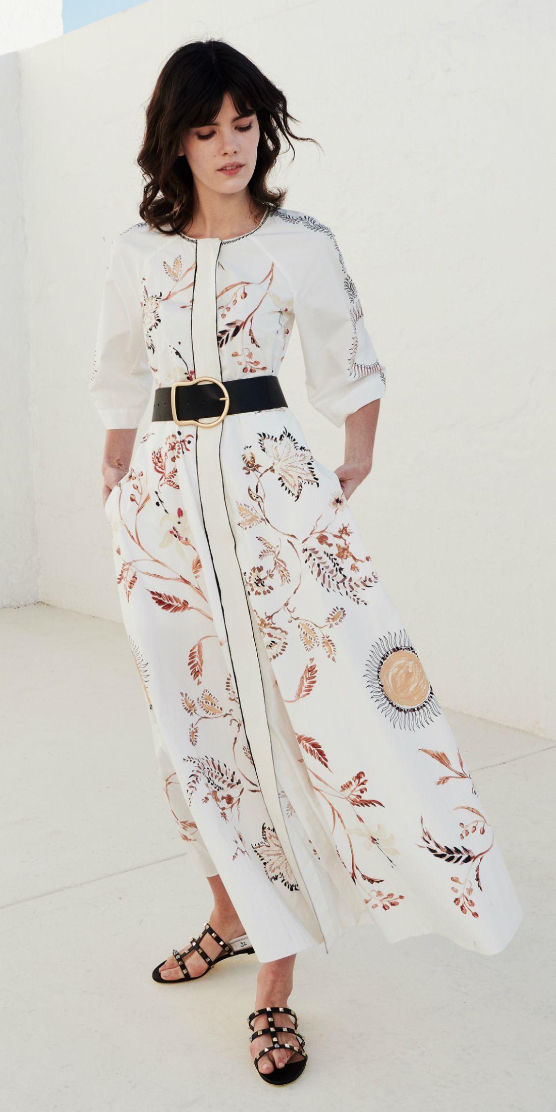 summer dresses | sommerkleid, blusenkleid, hoher taillenrock