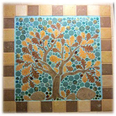 Tree Of Life Ceramic Tile Mosaic Wall Painting