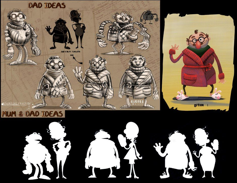 Love this style of presenting a character design.