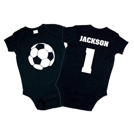 Personalized soccer ball bodysuit baby shower gift birthday personalized soccer ball onesie great baby shower gift or for sports fans by funkycoolthreads negle
