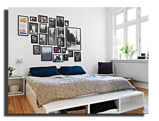 comment habiller un mur bed frames bedrooms and gallery wall. Black Bedroom Furniture Sets. Home Design Ideas