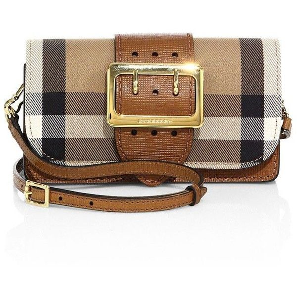 154403b131fe Burberry Oversized Buckle Accented Mini Crossbody Bag (1