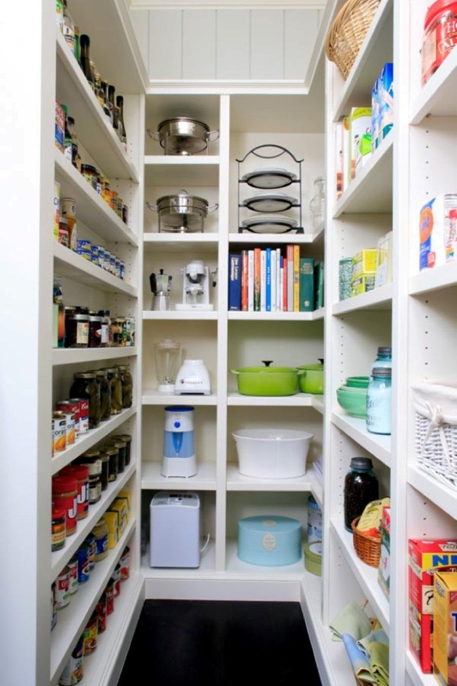 15 Kitchen Pantry Ideas With Form And Function Narrow shelves
