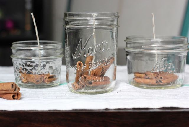 The Lucky Penny Blog: DIY: Cinnamon and Honey Beeswax Candles