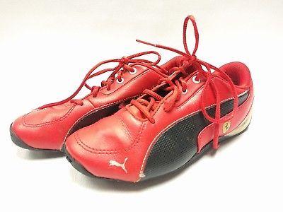 Puma Drift Cat JR Ferrari Kids Boys Leather Sneakers Shoes Size 1.5 Youth  ITALY ec1eac627