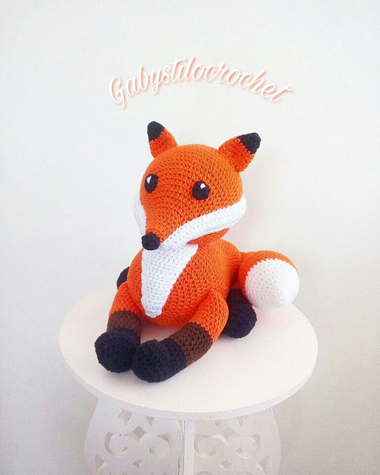 raposa #zorro #fox #loboguara #amigurumi #crochê #Gabystilocrochet ...