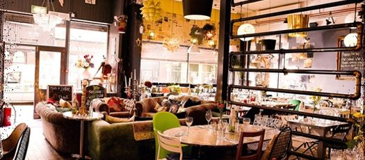 Made In Belfast | Quirky restaurant in a little corner of Belfast. Food is excellent, and the interior design is a comfortable, eclectic shabby-chic. They have a particularly impressive collection of chandeliers.