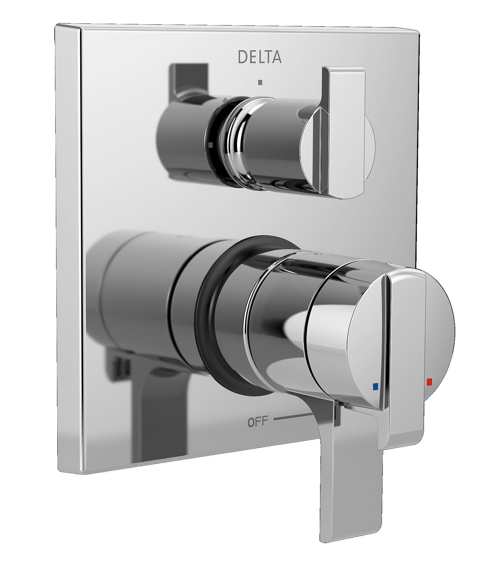 Ara Pressure Balance 17t Series Valve Trim With Double Handle Shower Systems Shower Diverter Delta Faucets