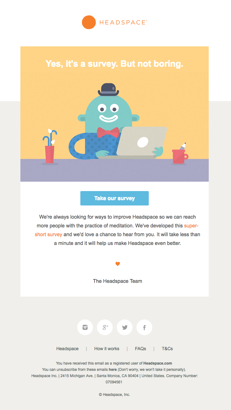 Headspace Sent This Email With The Subject Line A Quick Question