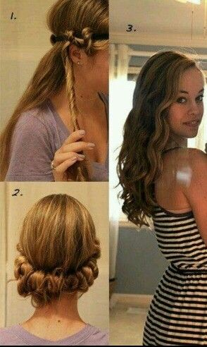 Overnight headband curls. If you have thick and or long hair caa851d1f58