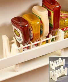 Set of 2 Upside Down Bottle/Jar Racks #kitchenstorage