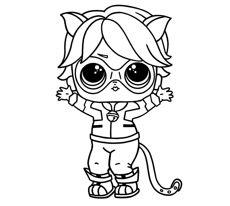 Lol Surprise Cat Noir Coloring Pages Free Ladybug Coloring Page Coloring Pages Ladybug Anime