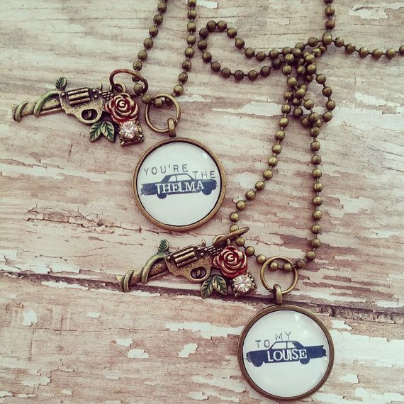 thelma and louise best friend necklace by