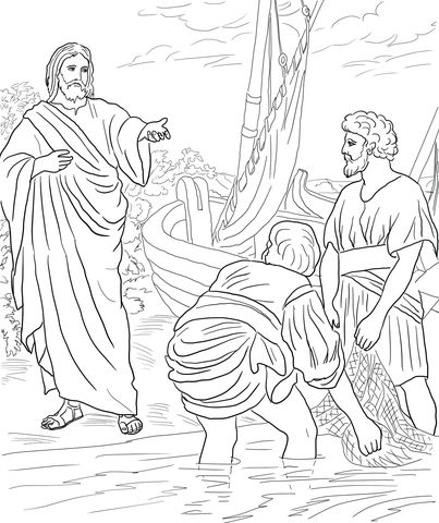 Jesus Calls The First Disciples Coloring Page Free Printable Coloring Pages Sunday School Coloring Pages Bible Coloring Pages Bible Coloring