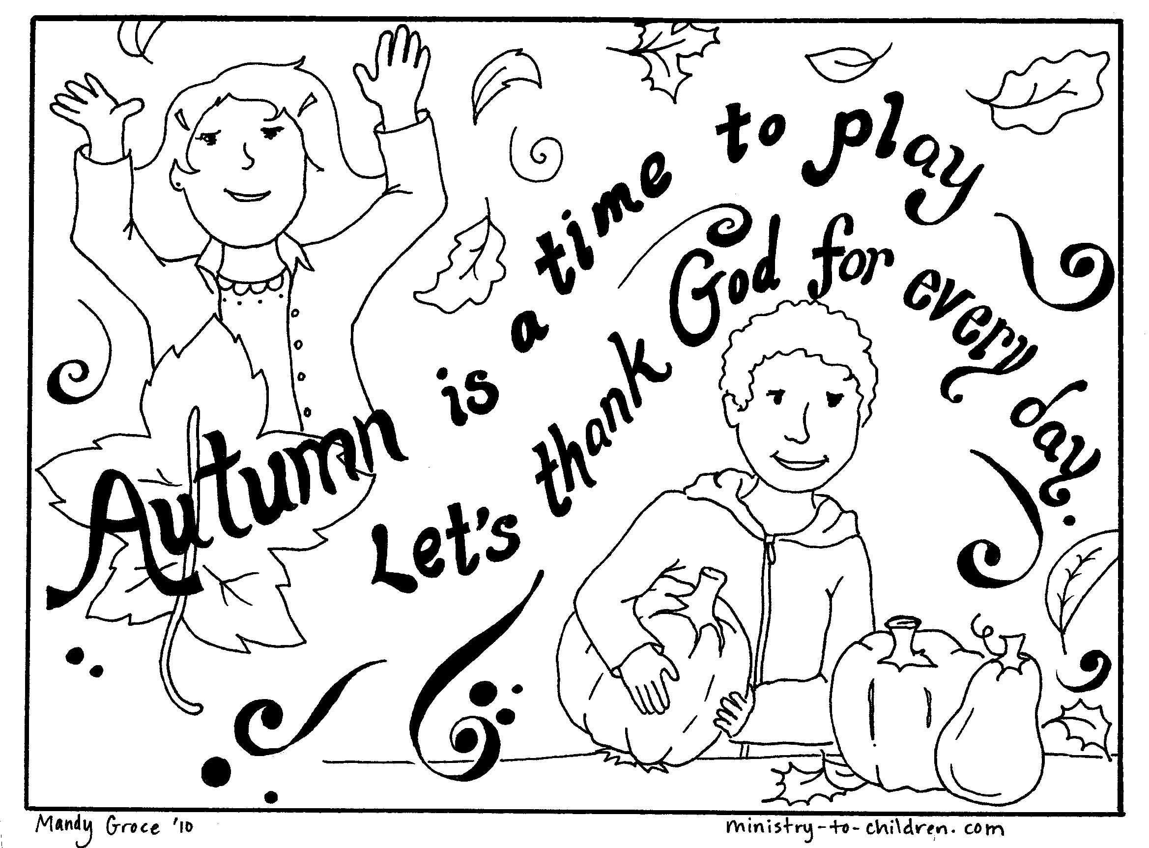Fall coloring page | MOPS | Pinterest | Sunday school, School and ...
