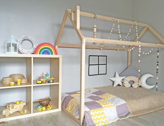 montessori bed peuter bed huis frame vloer bed houten bed