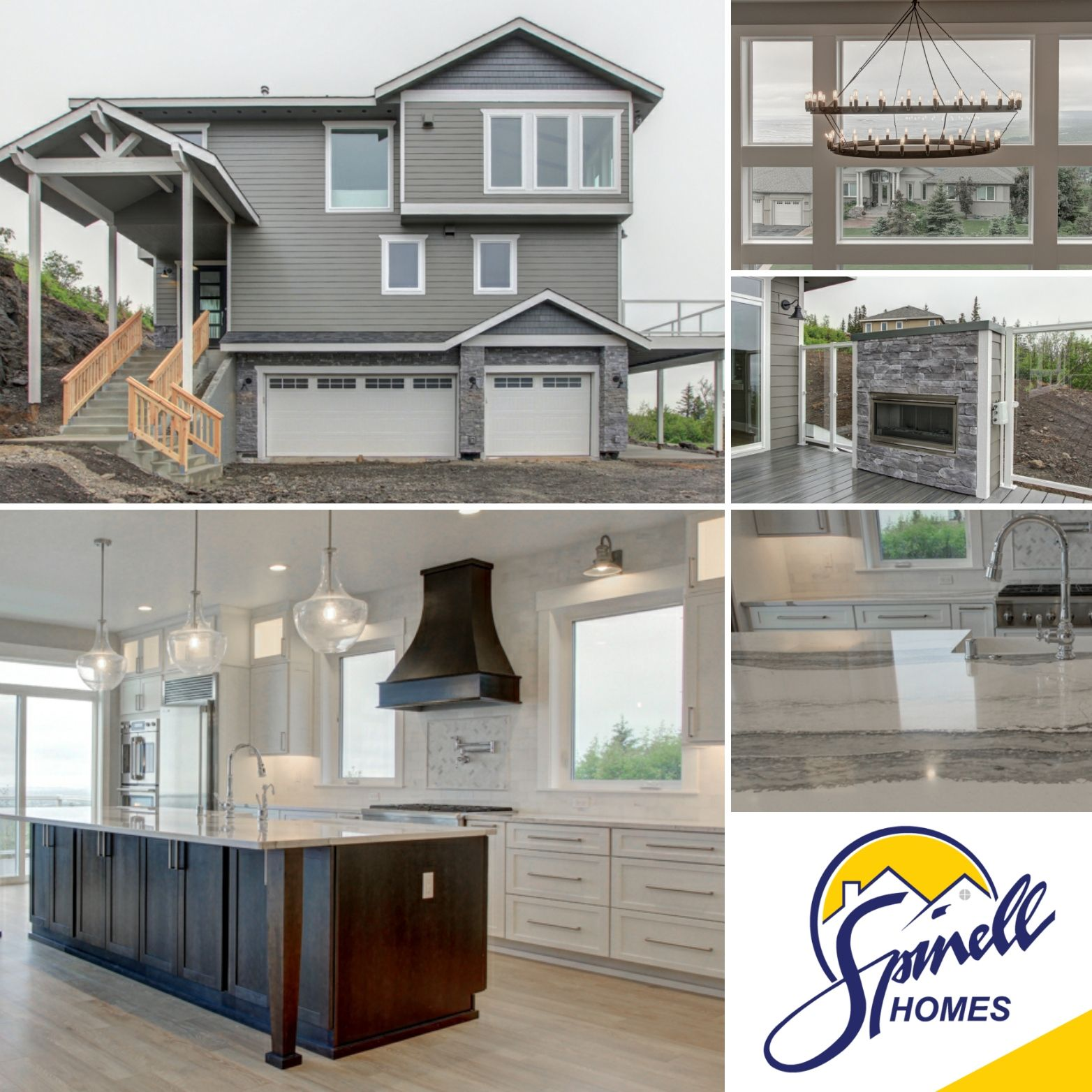 Spinell Homes Custom Hillside Home In Anchorage Alaska In 2020 Build Your Dream Home Custom Homes Home