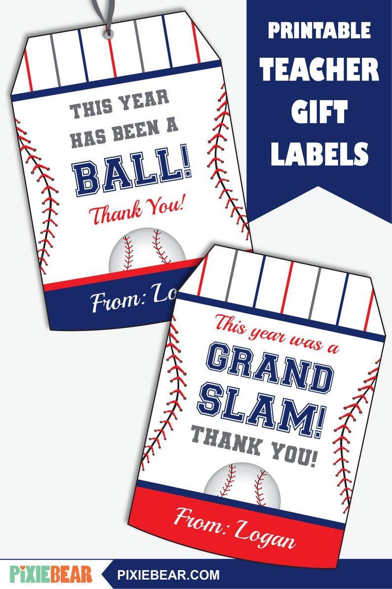 Baseball Teacher Appreciation Tag Printable Baseball Coach Etsy In 2020 Teacher Appreciation Gifts Teacher Appreciation Teacher Appreciation Printables