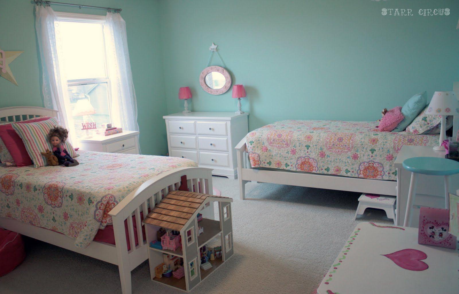 Pin by sara jean on three girly girls girls bedroom - Boy girl shared room ideas ...